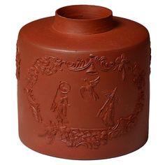 1stdibs.com | Antique Staffordshire eathenware pottery redware tea caddy