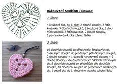 Srdíčko háčkované | Návody na háčkované hračky Crochet Necklace, Knitting, Jewelry, Children, Baby, Breien, Young Children, Jewlery, Boys