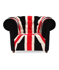 Union Jack Armchair by Zuo #zulily #zulilyfinds  I would buy this in a minute if I had the money... :(