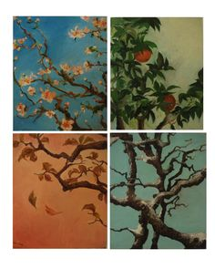 Winnie's Art: Four Seasons Four Seasons Painting, Four Seasons Art, Gcse Art Sketchbook, Sketchbooks, Art Alevel, Star Wars Concept Art, Toddler Art Projects, Large Canvas Art, Sad Art
