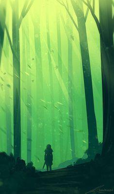 The Art Of Animation — Alexandra kern - . Fantasy Art Landscapes, Fantasy Landscape, Landscape Art, Mountain Landscape, Forest Illustration, Landscape Illustration, Digital Illustration, Illustration Pictures, Monochromatic Art