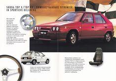 Škoda Favorit Top X / Top XX (Belgian brochure) Brochures, Benz, Porsche, Trucks, Top, Cars, Note Cards, Truck