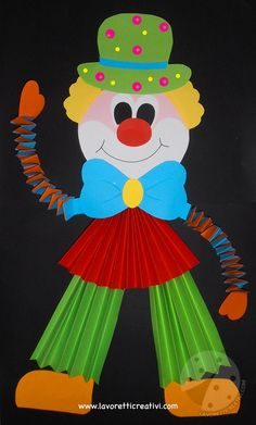 Ideas to create Carnival decorations Juggler clown Clown Crafts, Circus Crafts, Carnival Crafts, Carnival Decorations, Paper Christmas Decorations, School Decorations, Christmas Crafts, Paper Crafts For Kids, Preschool Crafts