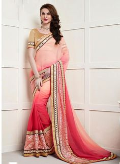 Looking to Buy Lehenga Online: Buy Indian lehenga choli online for brides at best price from Andaaz Fashion. Choose from a wide range of latest lehenga choli designs. * Express delivery, Shop Now! Fancy Sarees, Party Wear Sarees, Silk Sarees, Chiffon Saree, Saris, Latest Designer Sarees, Latest Sarees, Choli Designs, Lehenga Designs