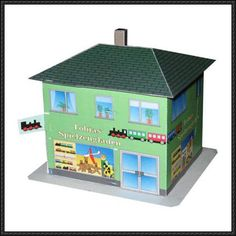A Simple Toy Shop Free Building Paper Model Download - http://www.papercraftsquare.com/a-simple-toy-shop-free-building-paper-model-download.html