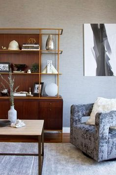 """""""Choose a chair in rich crushed velvet rather than standard leather or fabric.""""   25 Absoluely Gorgeous Living Room Decor Ideas   StyleCaster"""