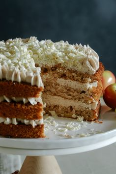 Apple Cake with a Chai Spiced Buttercream