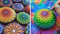 The crafts with decorative pebbles are trendy. Here we present 17 examples in photos of handicrafts with decorative stones, let's see them! Easy Paper Crafts, Crafts To Do, Diy Craft Projects, Home Crafts, Design Crafts, Decor Crafts, Tapas, Decorative Pebbles, Gift Ribbon