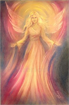 """""""Light and love"""" Pastel painting, hand painted"""