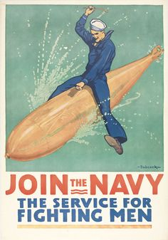 Join the Navy // Old Poster