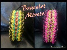 ▶ Bracelet Miroir Rainbow Loom® Tutoriel Français (Niveau Avancé) - YouTube
