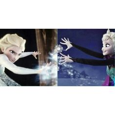 Elsa before and after