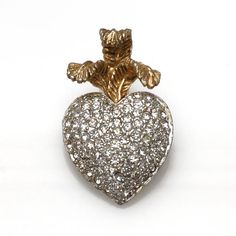 Your place to buy and sell all things handmade Vintage Valentines, Valentines Day, Prince Of Wales, Crystal Rhinestone, Heart Ring, Feather, Brooch, Crystals, Silver