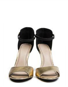 Ankle Strap Peep Toe Stilettos
