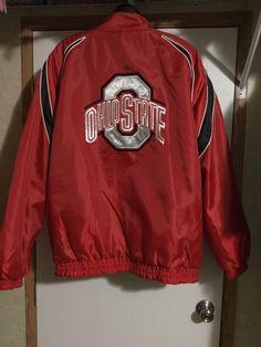 0d69809b2 Vtg Ohio State Jacket L Reversible Nylon Fleece Red Black Collegiate  Licensed  Collegiate  Jacket