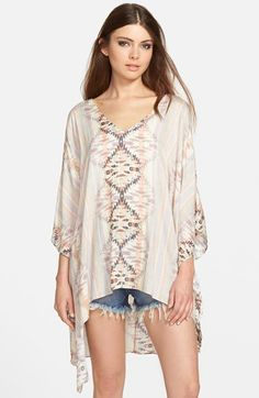 ASTR Oversize Geo Print Top available at #Nordstrom