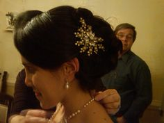 traditional updo  comb by Bel Canto Designs