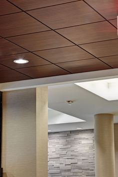 drop ceiling tiles painted | Acoustic suspended ceiling tile / in wood PLANOSTILE™ CHICAGO ...