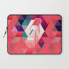 """""""Watermelon Popsicle"""" Laptop Sleeve by Spires on Society6."""
