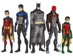 Young Justice-style Tim Drake Red Robin, Dick Grayson Nightwing, Batman, Jason Todd Red Hood and me Lego Batman, Im Batman, Batman Art, Batman Robin, Superman, Damian Wayne Robin, Tim Drake Red Robin, Batwoman, Batgirl