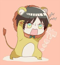 Lion Eren so cute !