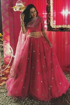Glam up your look with Auspicious Pink Color Pretty Wear Designer Lehenga Choli from Mongoosekart, Huge collection of Designer Lehenga, Designer Lehenga Blouse, . Pink Lehenga, Lehenga Blouse, Bridal Lehenga Choli, Indian Lehenga, Lehenga Wedding, Indian Wedding Wear, Goa Wedding, Forest Wedding, Indian Bridal