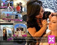 The Kiss N Makeup Parlour/ Salon on Wheels/ airstream salon