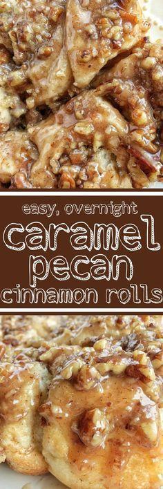 Overnight Caramel Pecan Cinnamon Rolls with frozen bread dough Pecan Cinnamon Rolls, Pecan Rolls, Brunch Recipes, Dessert Recipes, Brunch Ideas, Dinner Recipes, Frozen Bread Dough, Delicious Desserts, Yummy Food