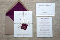 Rustic Geometric Wedding Invitations. via Etsy. (Dawn Correspondance)