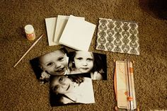 The Sassy Pepper: Mod Podge Photos Onto Canvas Photos Onto Canvas, Canvas Pictures, Hang Pictures, Family Pictures, Diy Foto, Foto Fun, Photo Projects, Craft Projects, Craft Ideas