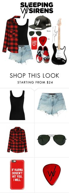 """Untitled #37"" by pierce-the-veil10 ❤ liked on Polyvore featuring Twenty, T By Alexander Wang, Ray-Ban and Casetify"