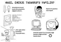 enerji tasarrufu nasıl yapılır? Grade 1, Kindergarten, Preschool, Drama, Printables, Activities, Memes, Puzzles, Puzzle