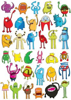 Monsters by Chloe Batchelor, via Behance