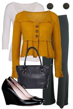 birdsnest Outfit of the Day for Thursdy 25th October 2012.   Spice up your work attire with a little colour! The cardi is perfect for breaking up a long body, while the pants do wonders to disguise cankles.