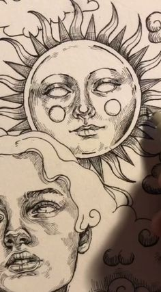 Cool Art Drawings, Art Drawings Sketches, Tattoo Drawings, Random Drawings, Indie Drawings, Art Tattoos, Tattoo Sketches, Pencil Drawings, Arte Sketchbook