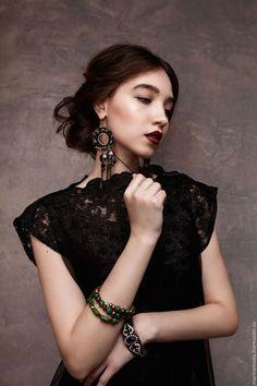 Lace dress / Платья ручной работы. Ярмарка Мастеров - ручная работа. Купить Платье кружевное.. Handmade. Черный, кружевное платье