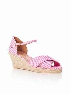 Talbots - Lyndsay Gingham Ankle-Strap Espadrilles | Espadrilles |