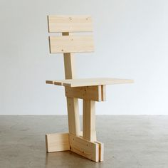 London designer Max Lamb has designed this self-assembly wooden chair for Tokyo furniture brand E&Y.