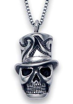 $49.95 Stainless Steel Magician Skull Pendant on a 20 Inch Box Chain https://www.facebook.com/photo.php?fbid=136741676511724=a.115237391995486.1073741828.115224581996767=1