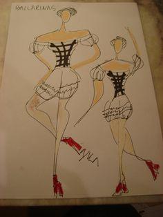Bocetos Bailarinas