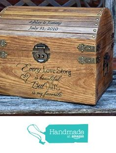 Every Love Story is Beautiful But Ours is my Favorite with Names and Date on Lid Slats - Wedding Card Box - Wedding Card Holder - Rustic Wedding Decor - Keepsake Box from Country Barn Babe https://www.amazon.com/dp/B017HZ1FS6/ref=hnd_sw_r_pi_dp_61DfzbQ9CWVQR #handmadeatamazon