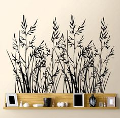 grasses for your asses  http://dalidecals.com/Wild-Grass-Set-of-Two-Wall-Decal-Sticker-Graphic.html