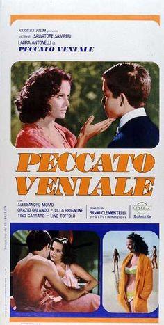 """Peccato veniale , Italy 1974 , di Salvatore Samperi . //L'adolescente """"Alessandro Momo"""" (18 ; foto) è in vacanza con la famiglia e la cognata """"Laura Antonelli"""" (33 ; foto) moglie del fratello maggiore; con lei intreccerà una relazione /// f > ///"""