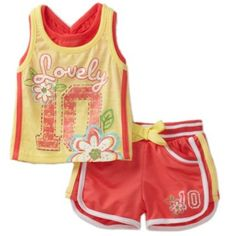 Young Hearts Baby-Girls Infant French Terry Short Set $18.20