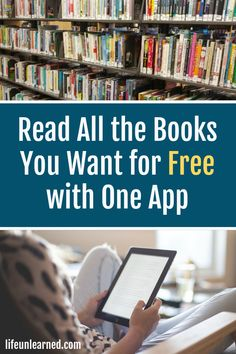 Read all the books you want for free with one app Websites To Read Books, Free Books To Read, Book Sites, Free Books Online, Books To Read Online, Good Books, Must Read Novels, Free Novels, Inspirational Books