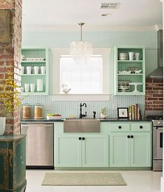 Decorando en color menta · Decorating with mint - Vintage & Chic. Pequeñas…