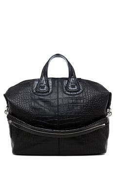GIVENCHY Large Nightingale Stamped Croc in Black