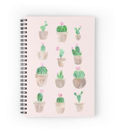 A personal favorite from my Etsy shop https://www.etsy.com/listing/479080464/pink-cactus-notebook-succulent-notebook