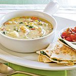 Southwest Shrimp and Corn Chowder Recipe | MyRecipes.com - Great 'fast food' dinner.  Quick and delicious!