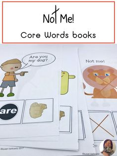 Support AAC users with activities to build language and for words use. Students use interactive books to provide some context for use of negation in AAC. Interactive Books, Special Needs, Speech Therapy, Curriculum, Vocabulary, Communication, Core, Students, Language